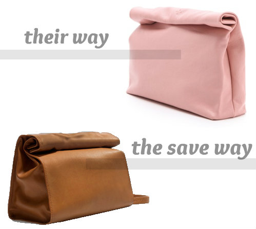 lunch bag clutch