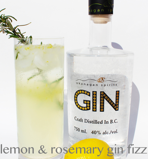 lemon and rosemary gin fizz